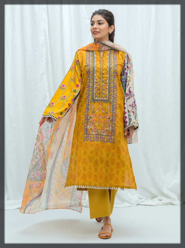 sunshine yellow summer eid suit