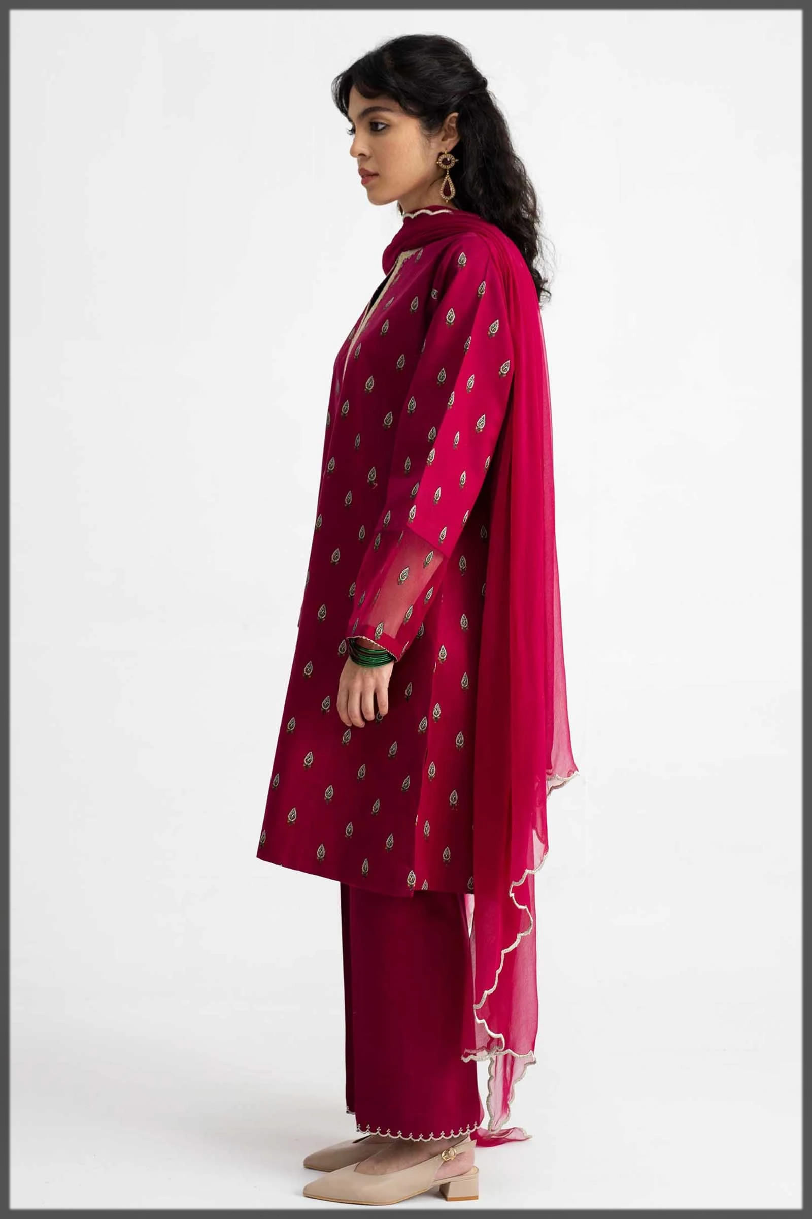vibrant deep red outfit for girls