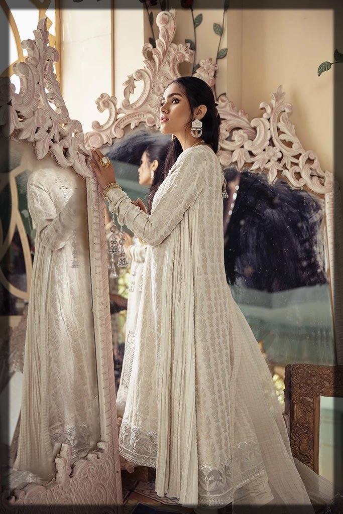 white embroidered festive eid dress