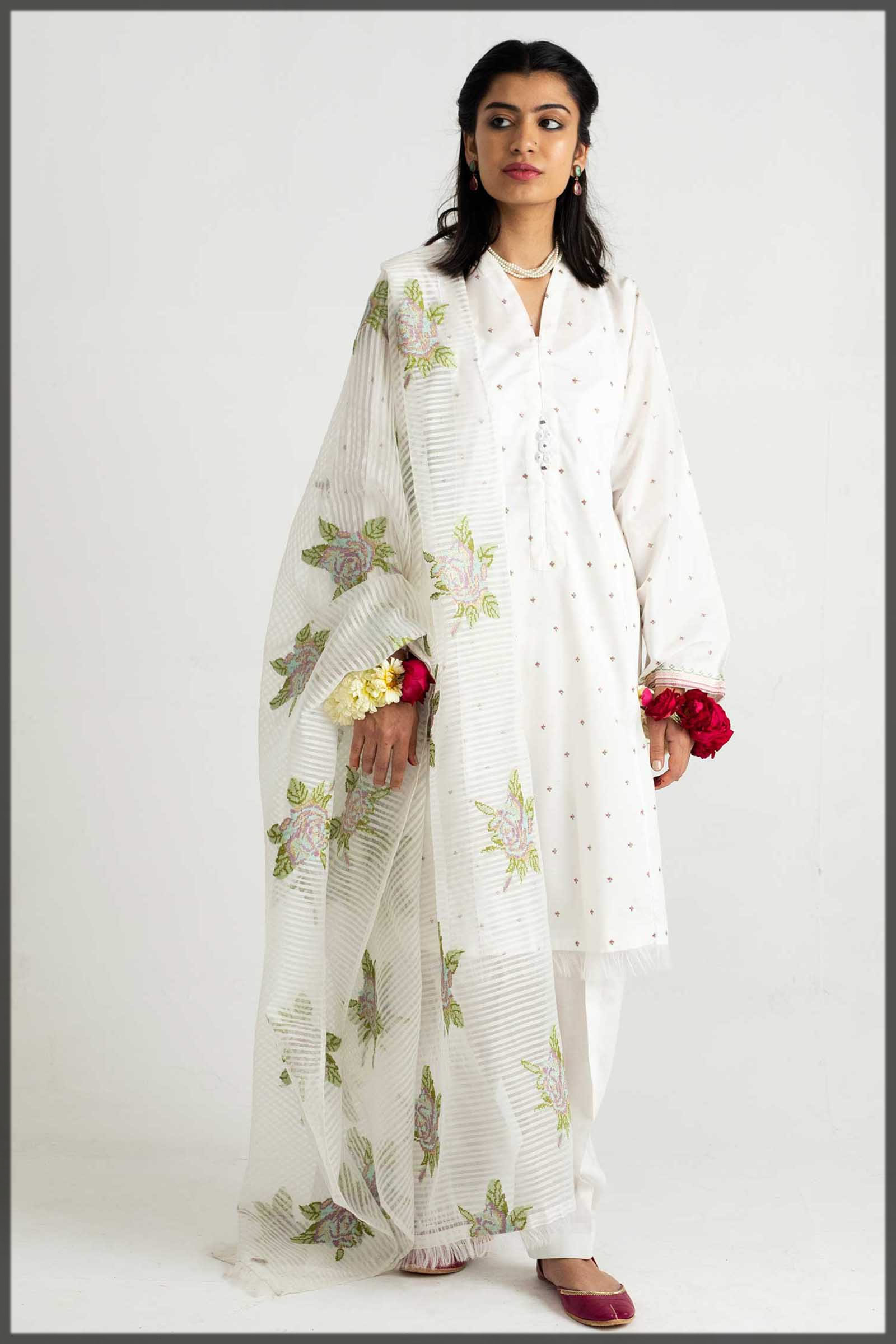white outfit for eid