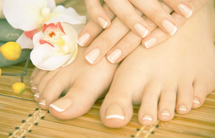 whitening manicure and pedicure