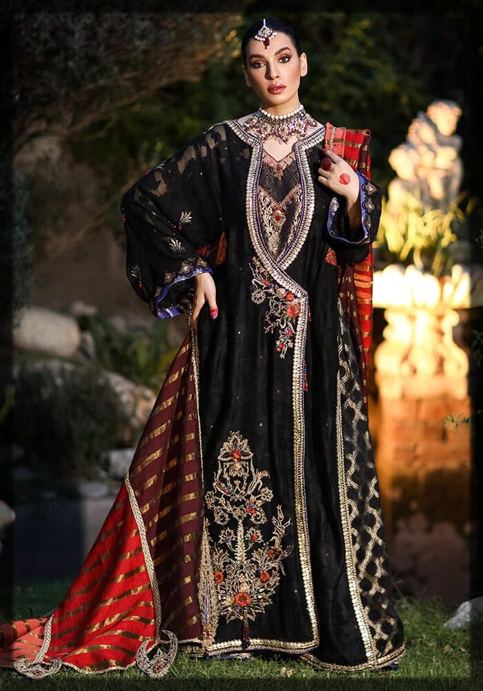 Premium Zari Cotton Net Black Outfit