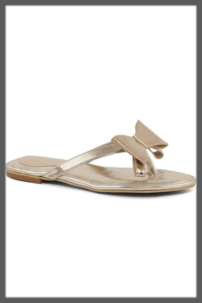 bow tie casual chappal