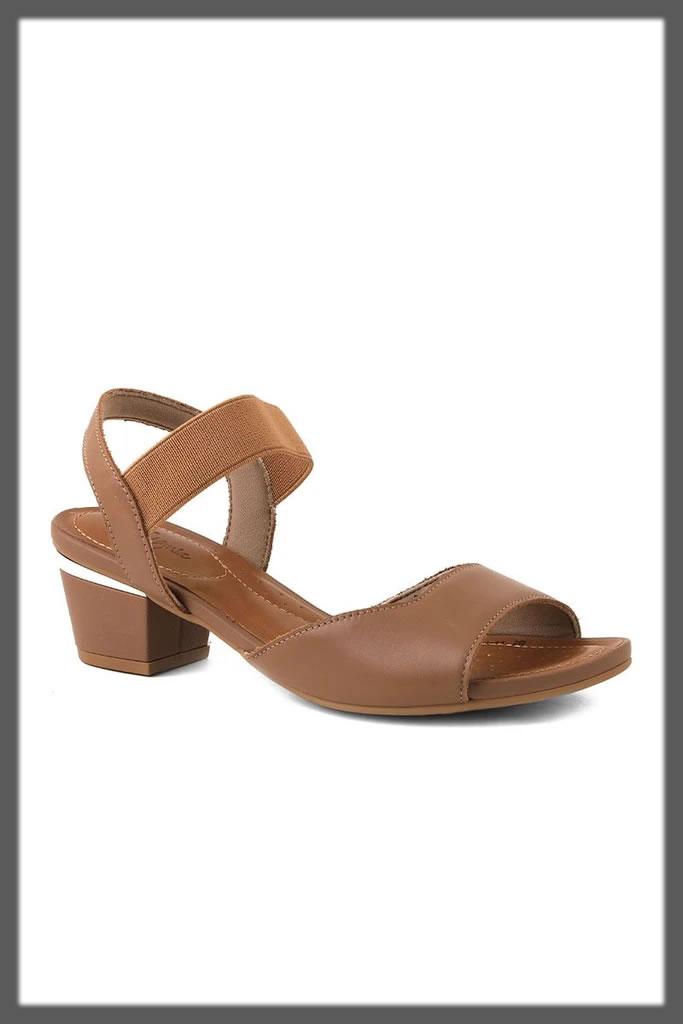 brown sandal heels for eid