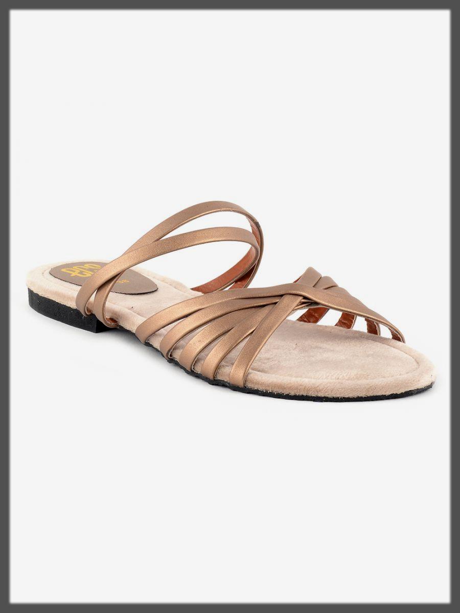brown summer eid footwear for ladies
