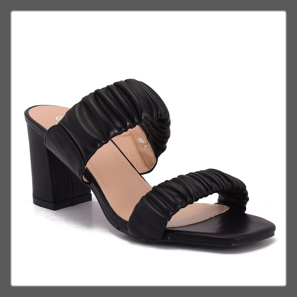casual black heels for women