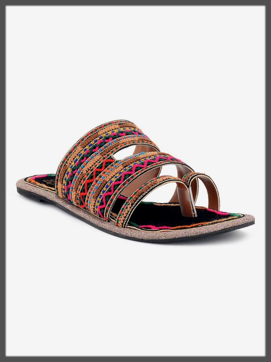 colorful eid footwear for ladies
