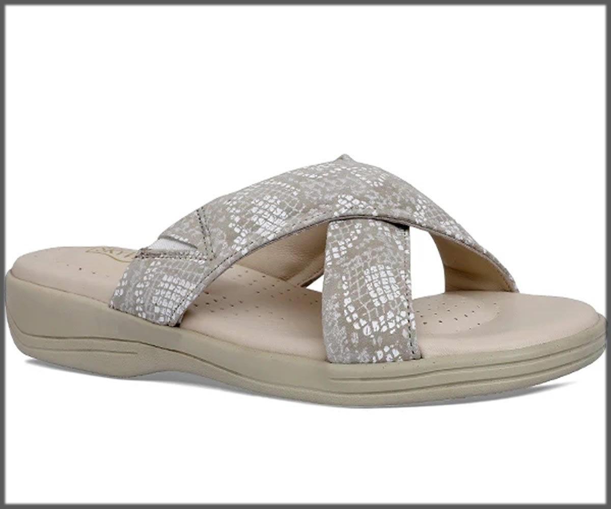 criss cross grey slippers