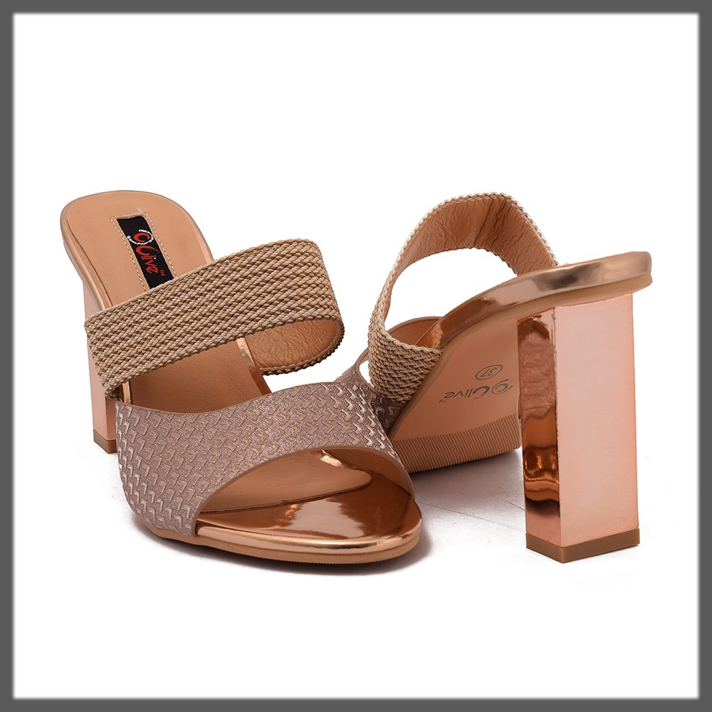 elegant golden heels