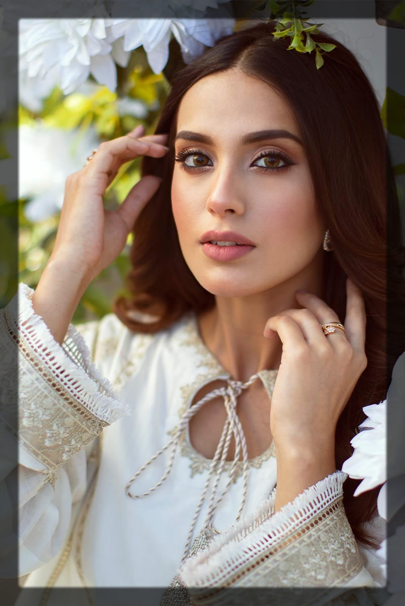 enchanting white embroidered lawn suit