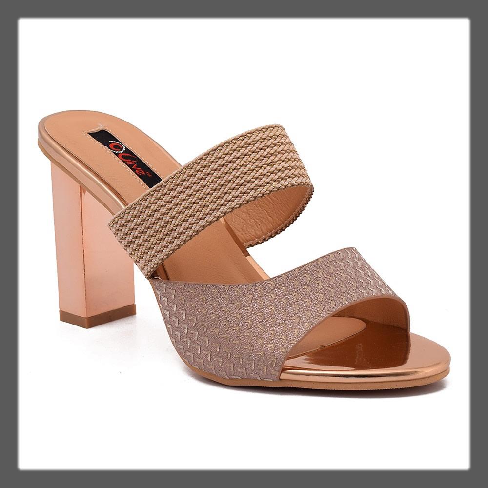 fancy golden heels for women