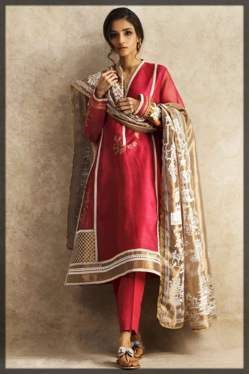 gorgeous maroon eid outfit