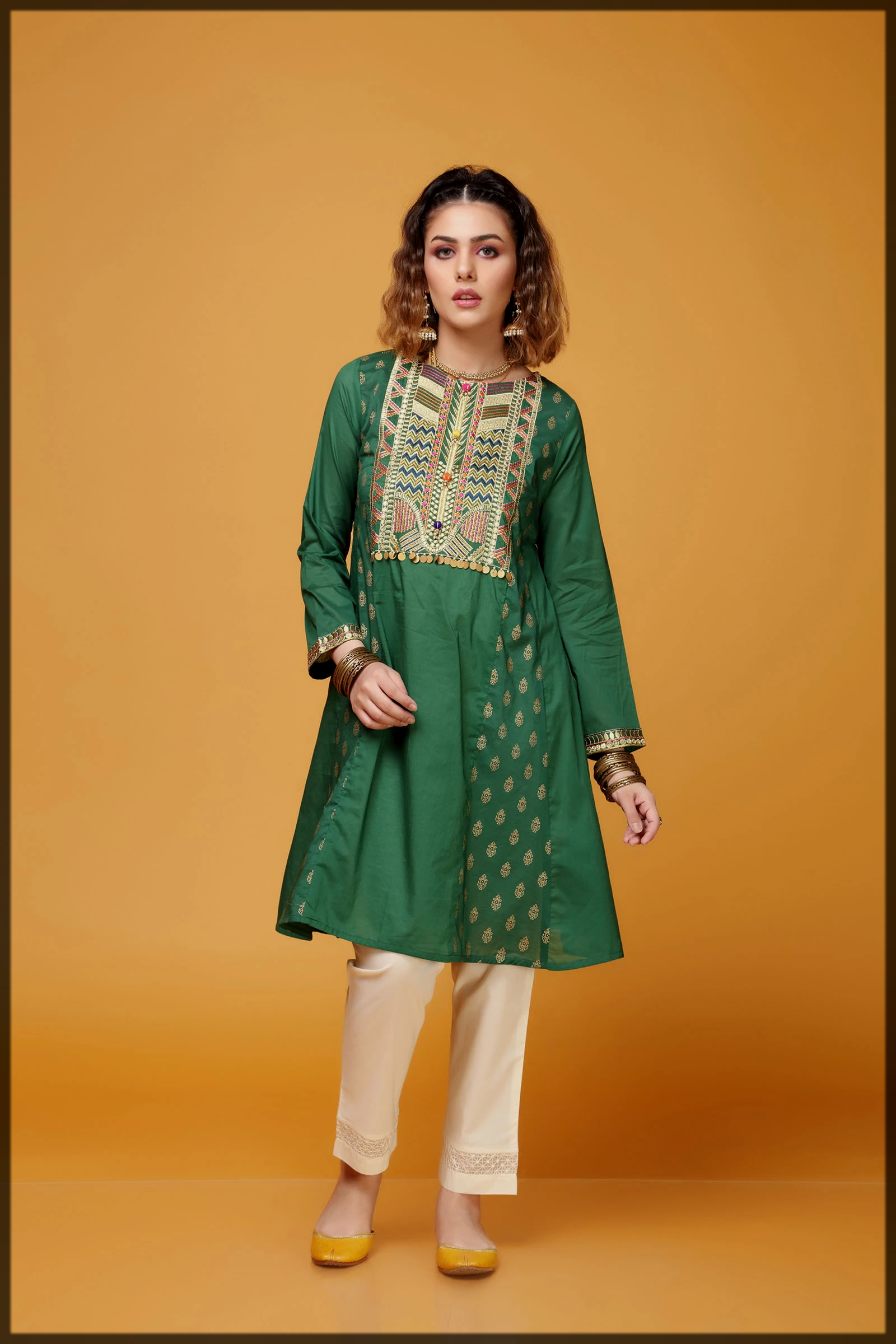 green shaded summer eid collection