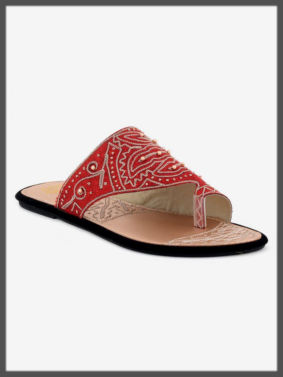 impressive red summer shoes