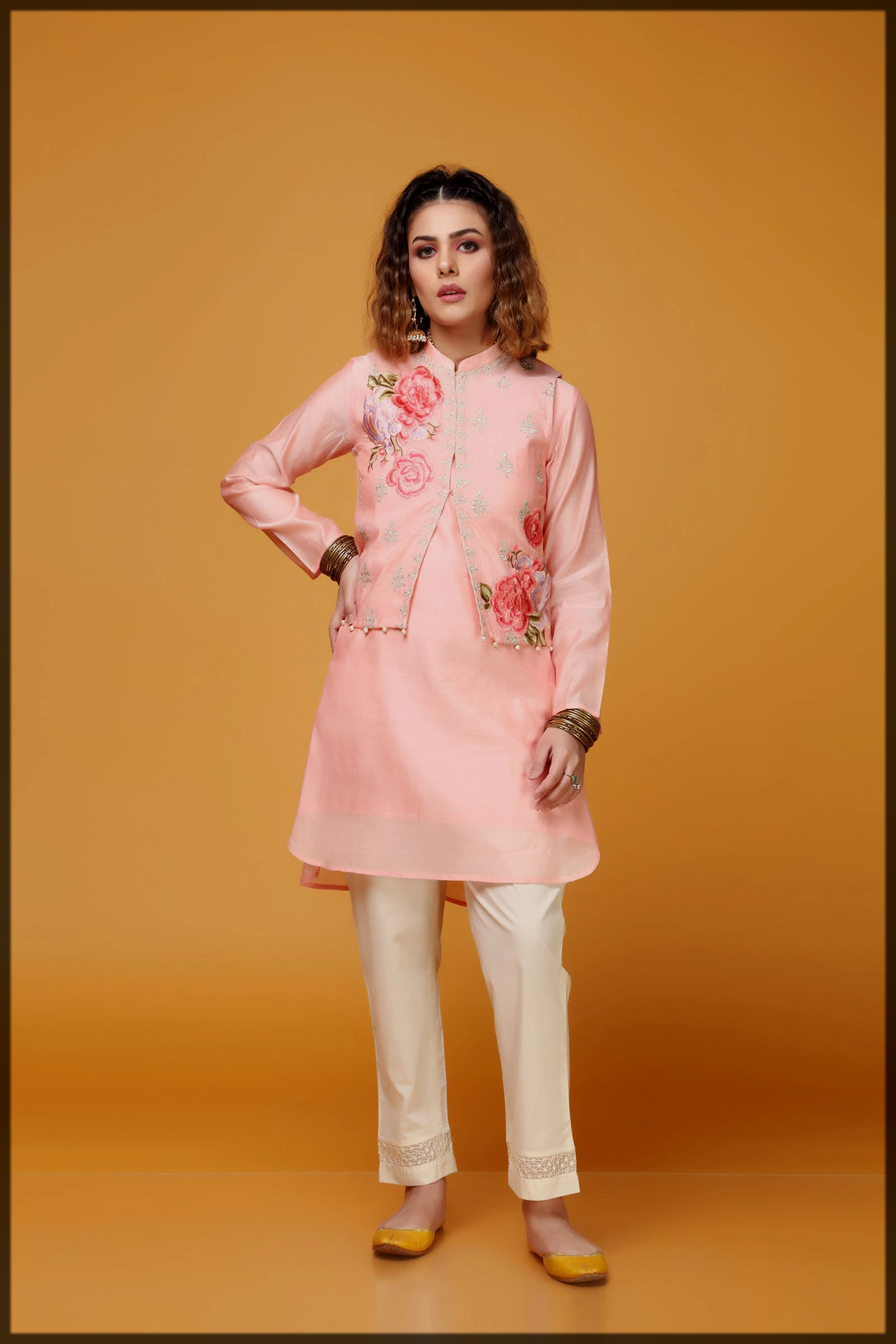 lovely pink summer eid suit
