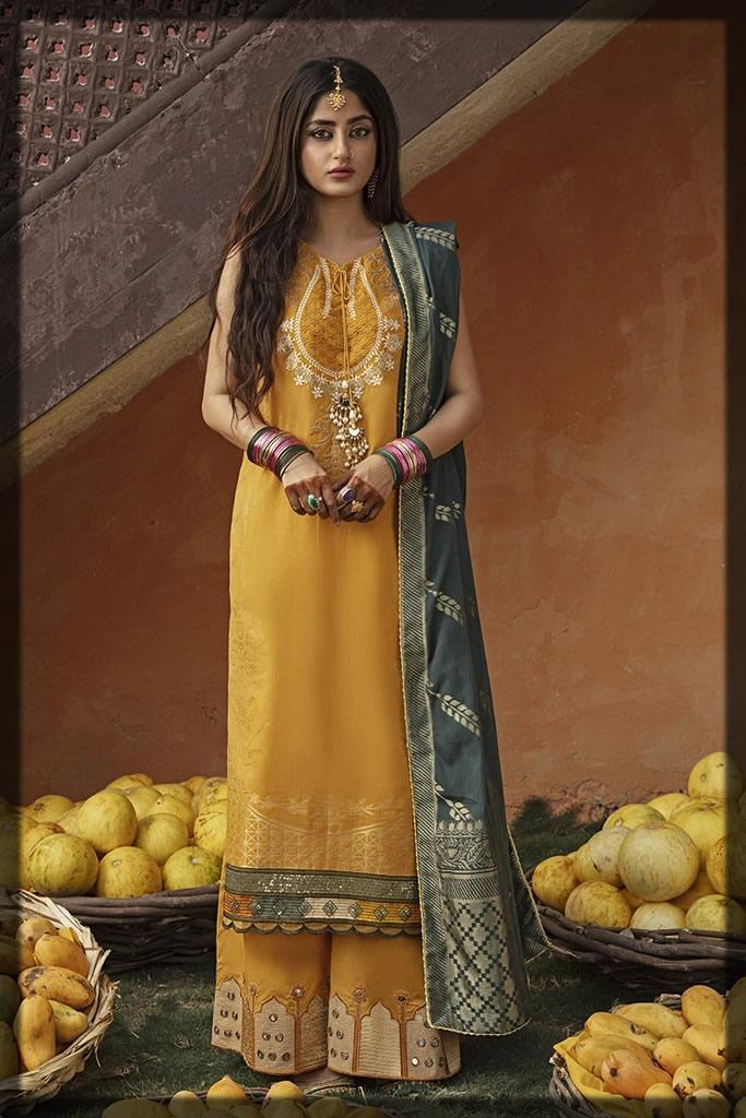 mustard yellow eid dress