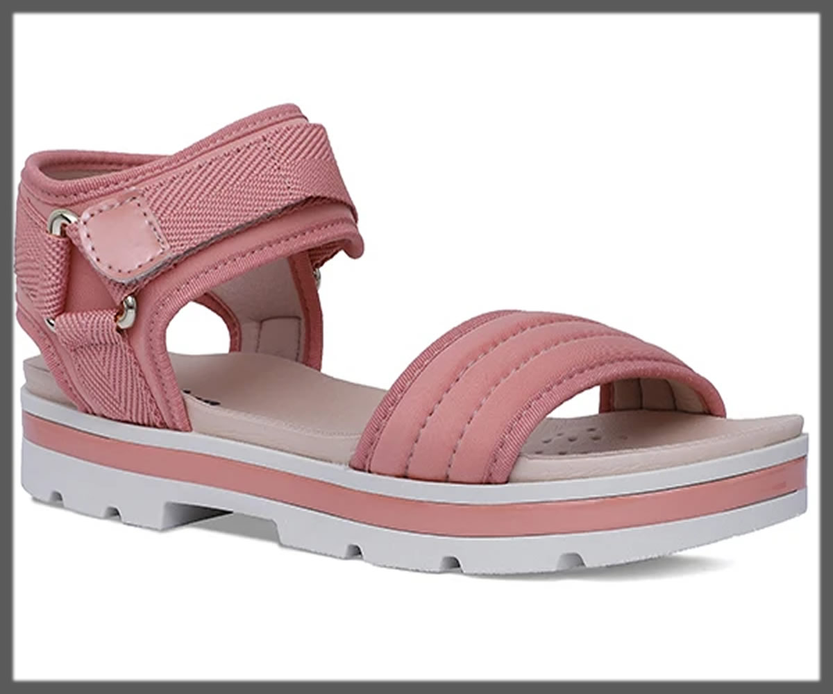 pink soft sandals for women