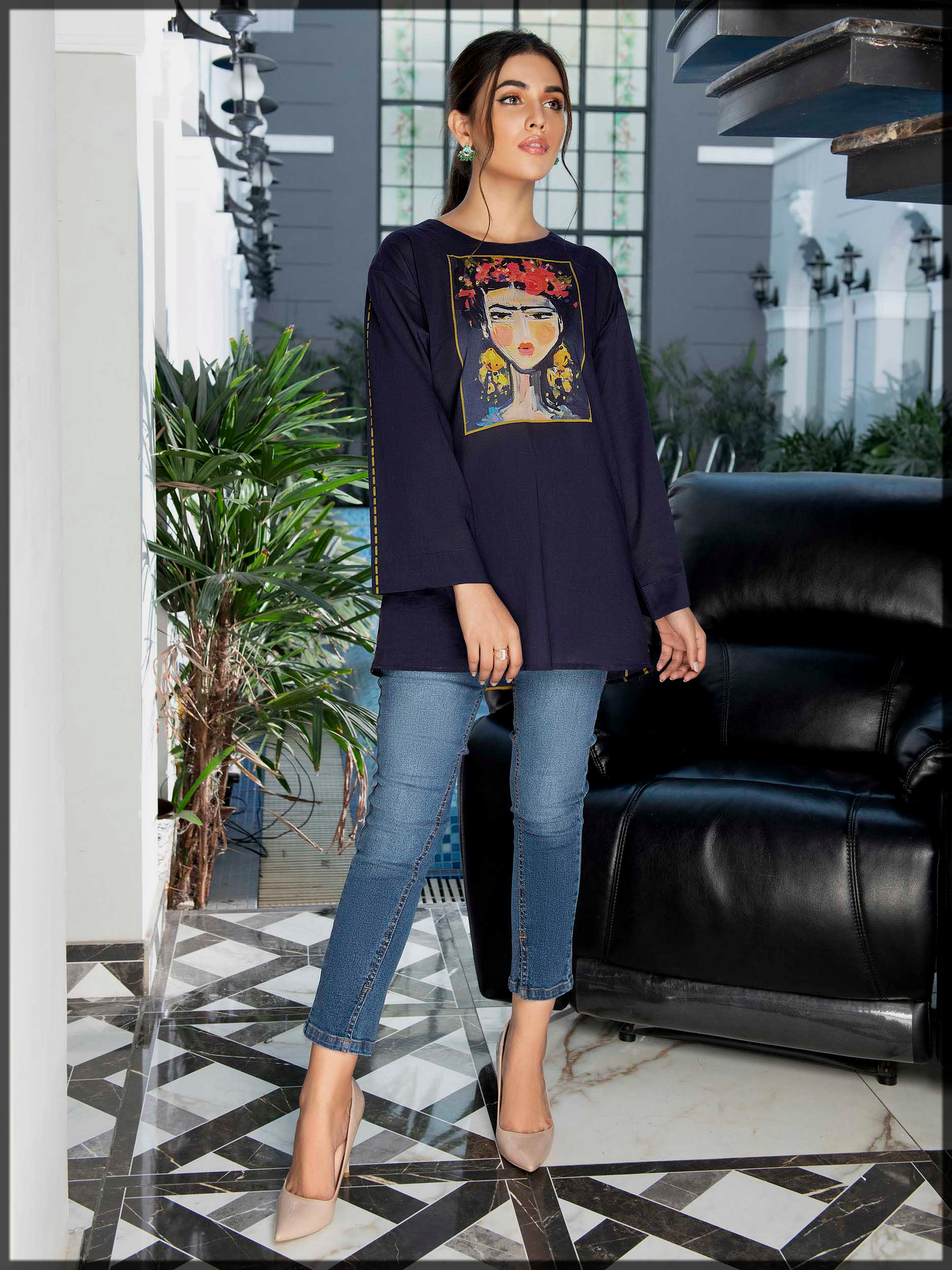 printed lawn top by limelight