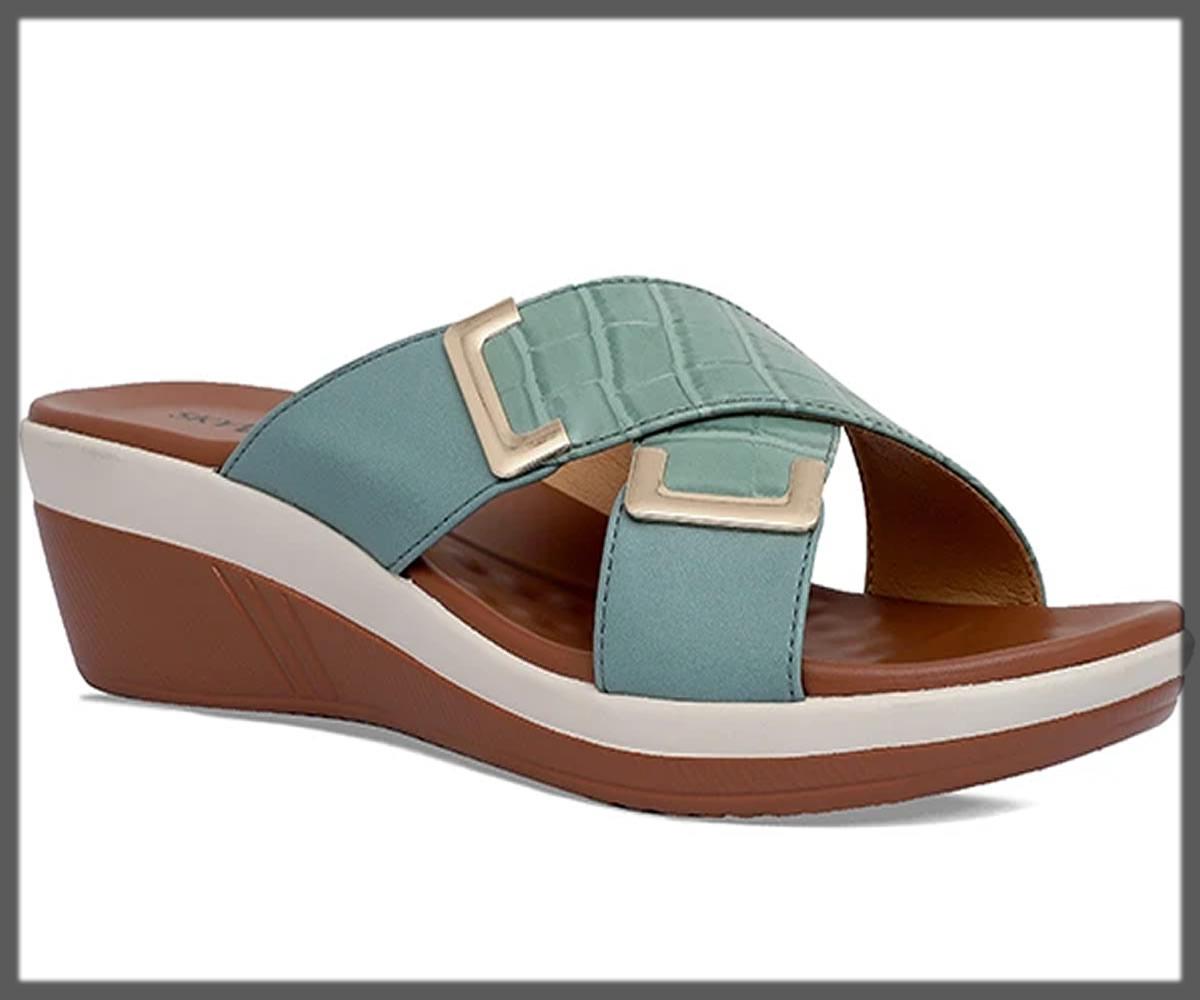 sea green comfortable slippers