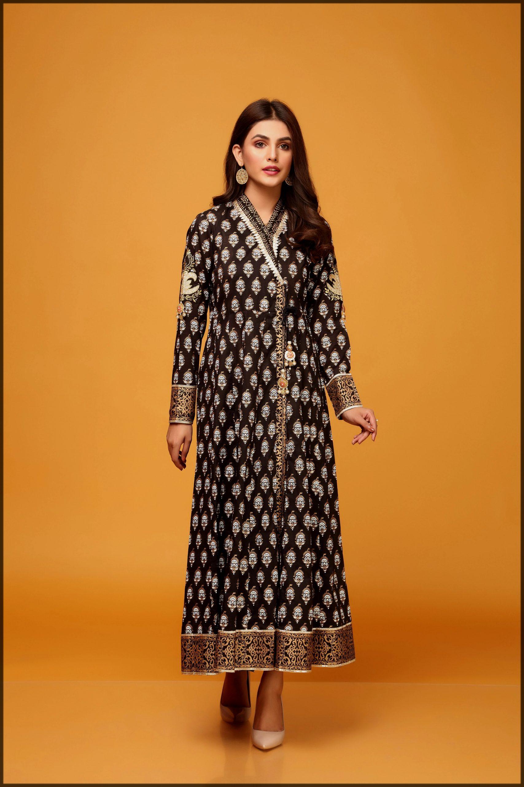 sleek black summer eid suit