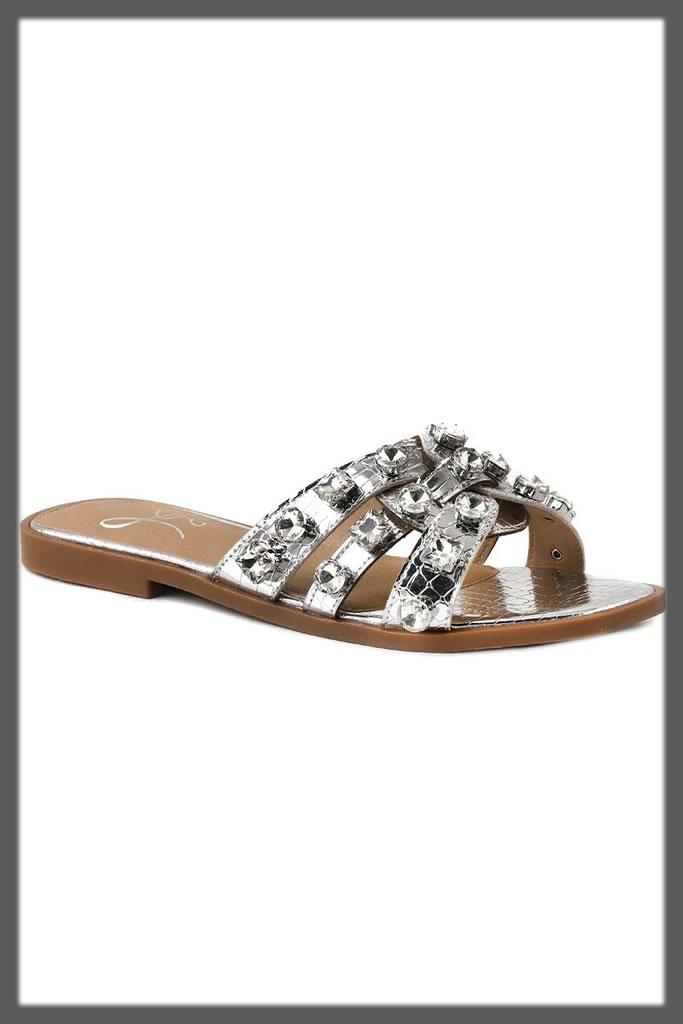 studded fancy slippers