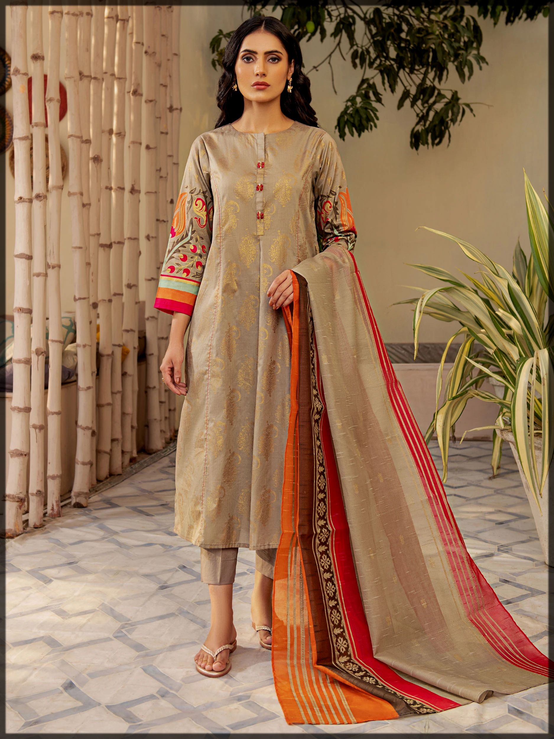 stunning 3pc lawn suit by limelight
