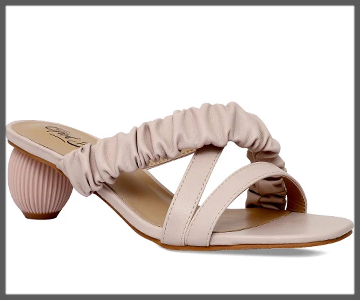 stylish rounded block heels