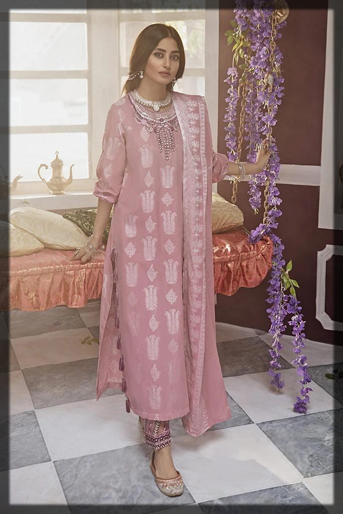 tea pink cotton eid dress