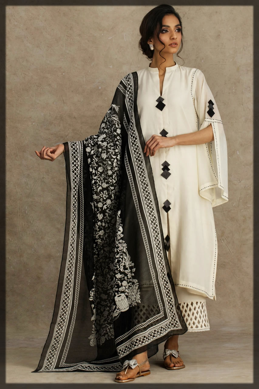 toral ivory embroidered lawn suit