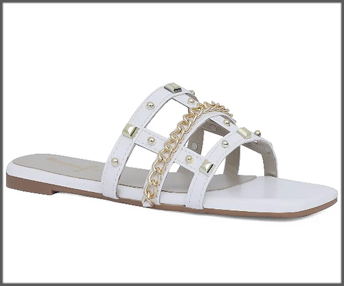 white studded slippers for eid