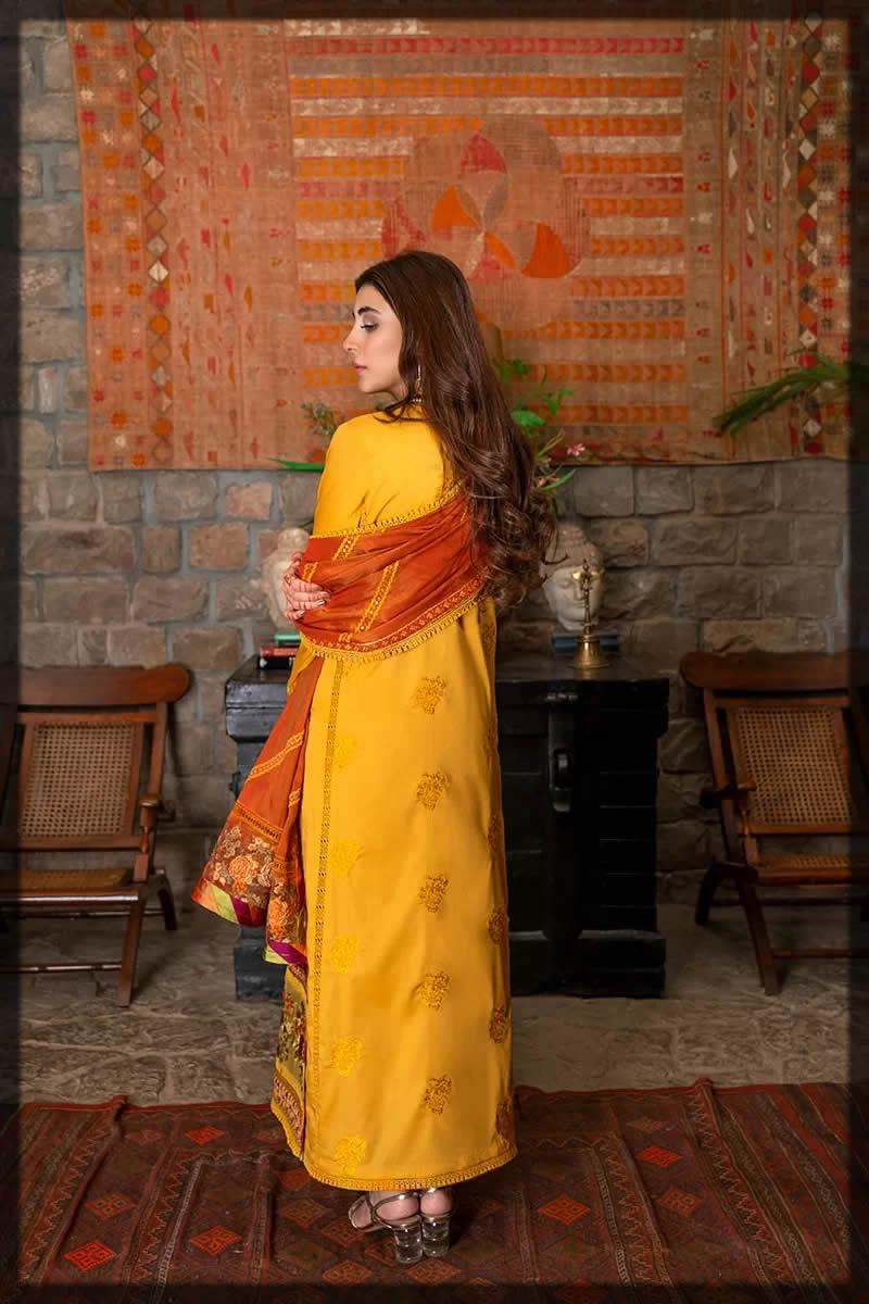 yellow and orange eid dress
