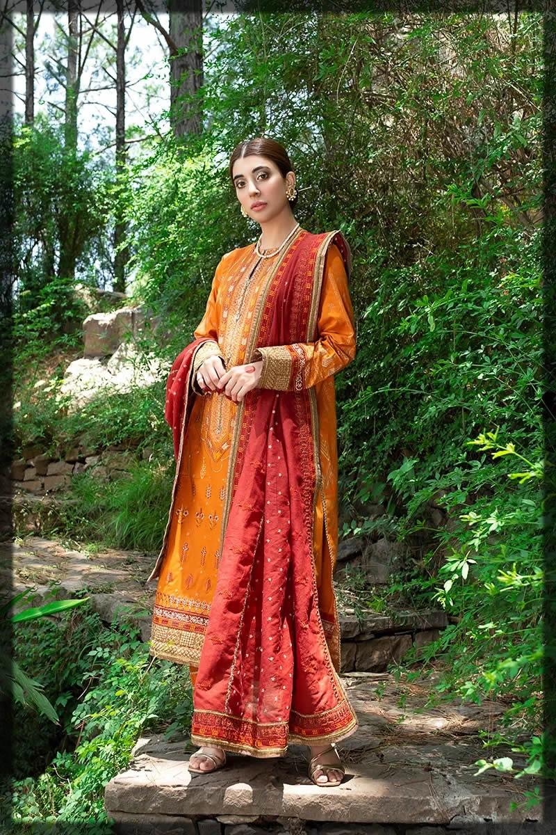 yellow and orange eid attires