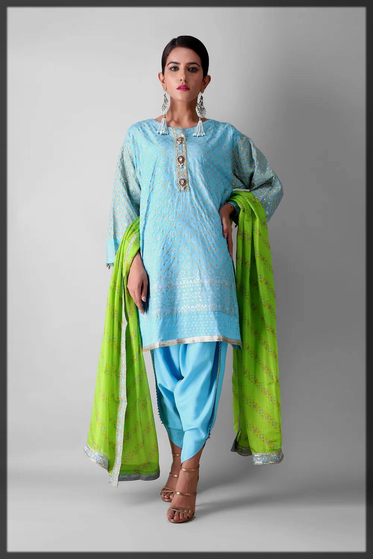 Box Cut Full Suit by khaadi