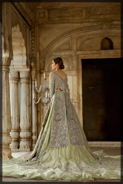 Mint Green Crop-Top Bridal Outift