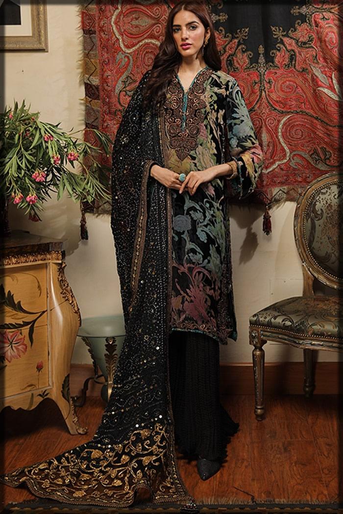 Pure Devore black dress