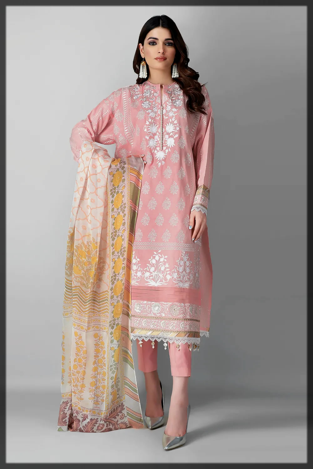 Unstitched Embroidered 3 Piece by khaadi