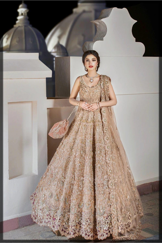 golden net embellished peshwas
