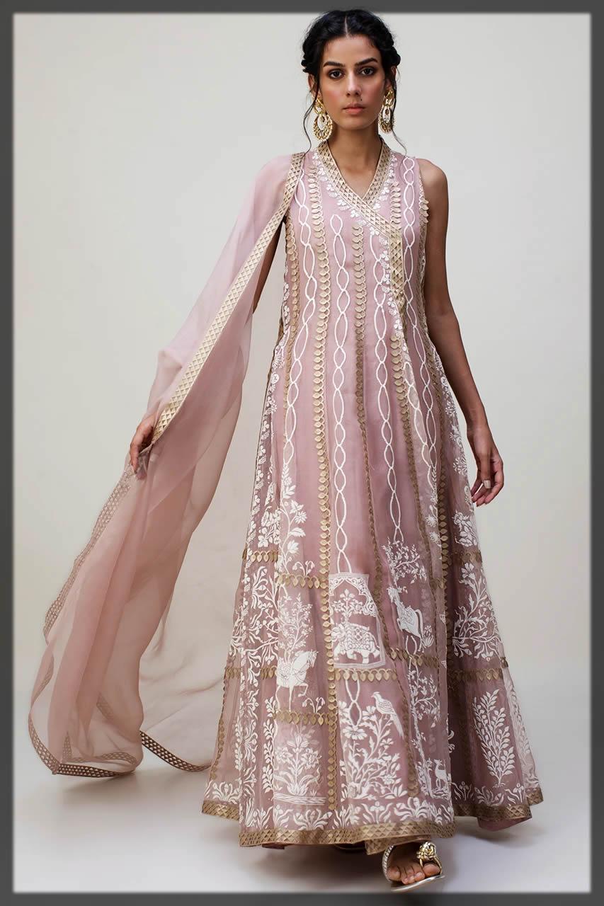 nida azwer eid attire angrakha style