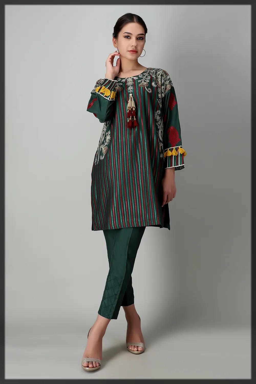 printed kurta pant for eid by khaadi