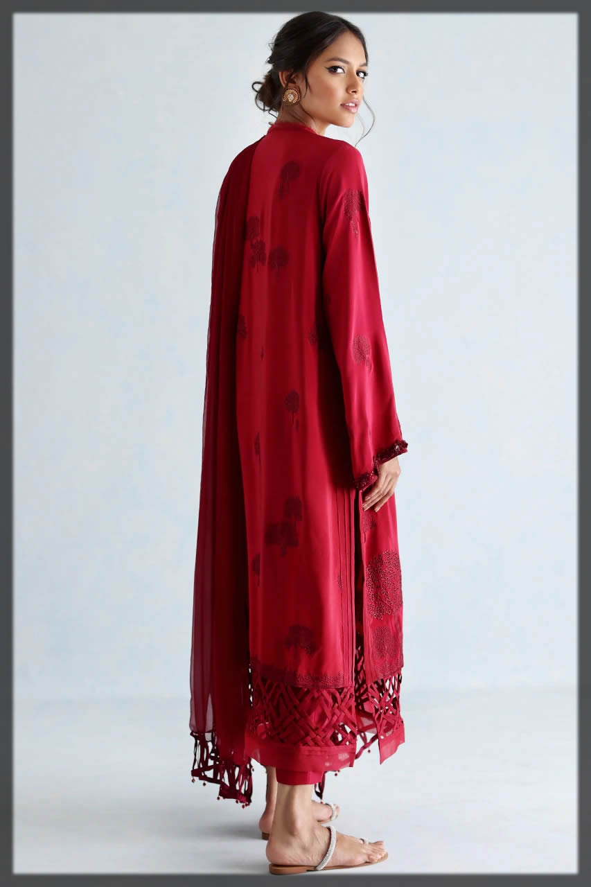 red festive suit by nida
