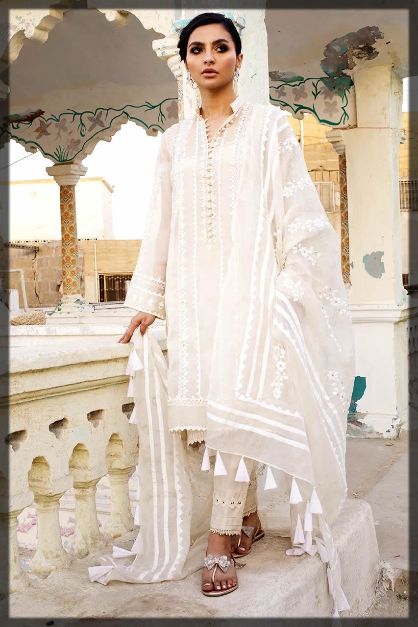 white eid dresses by Nida Azwer