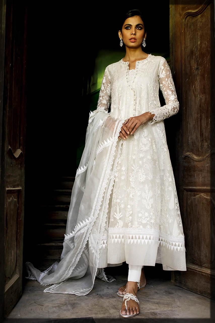 white eid dresses by Nida