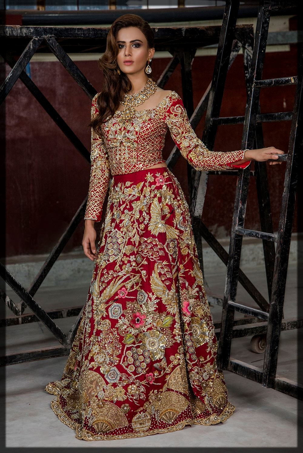 Classy Red Lehenga Choli with Impeccable Detailing