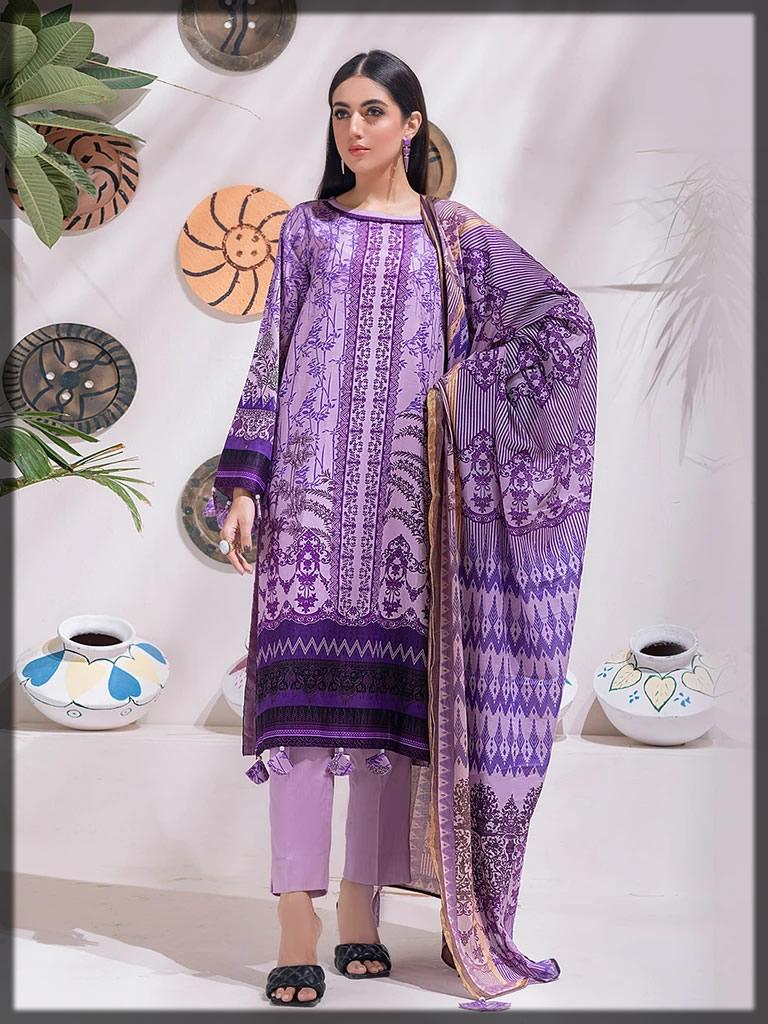 printed lilac winter dress