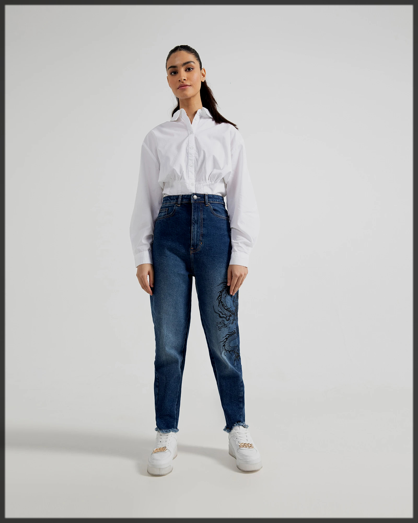 Balloon Fitted blue Jeans