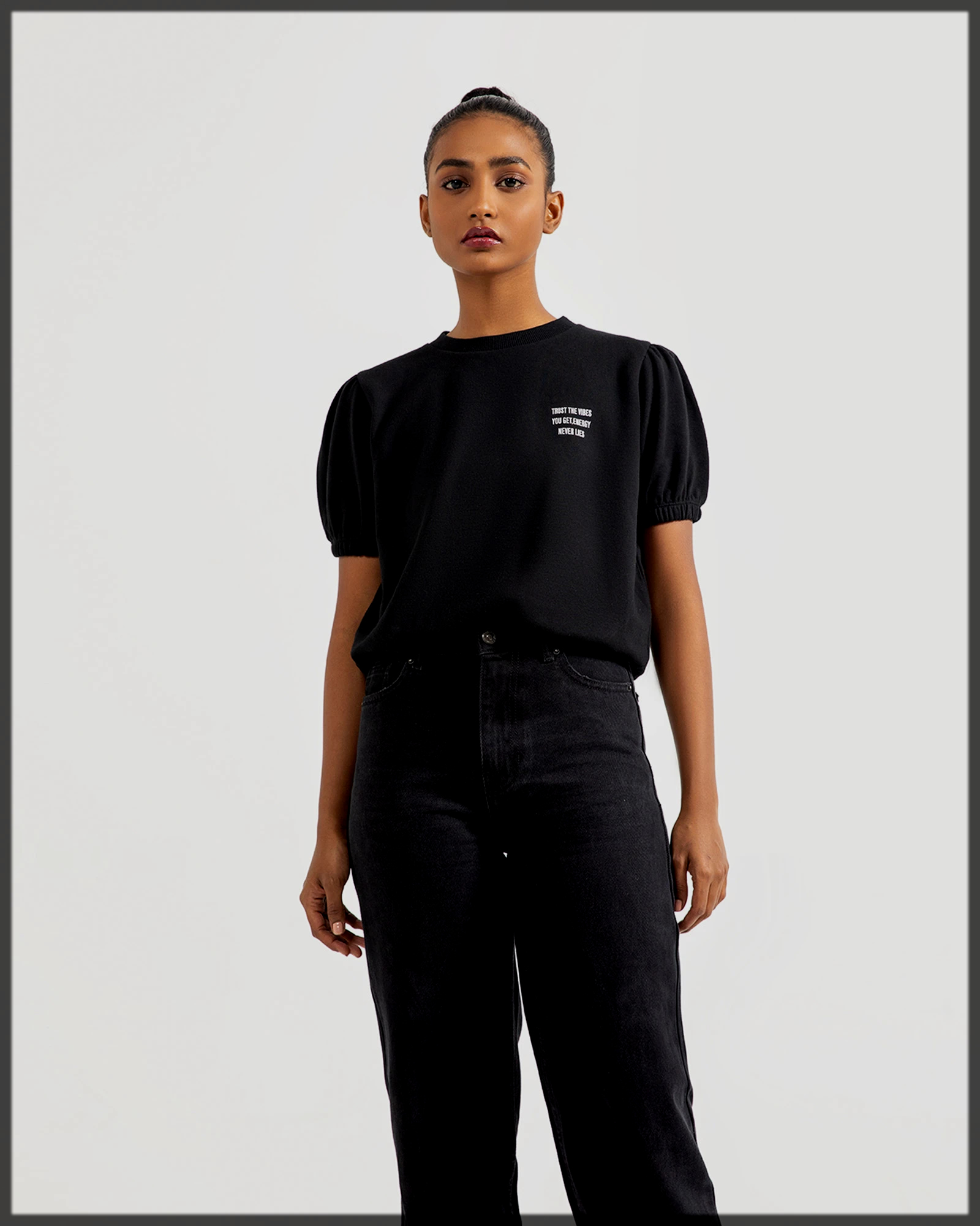 Regular Fit Tees with Poof Sleeves by Outfitters