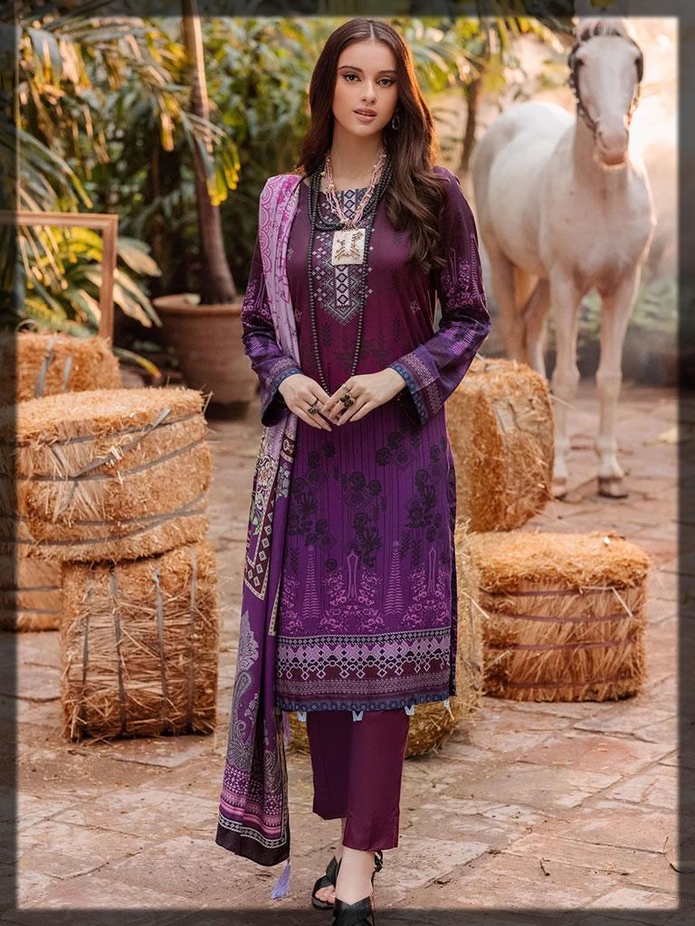 beautiful purple linen dress