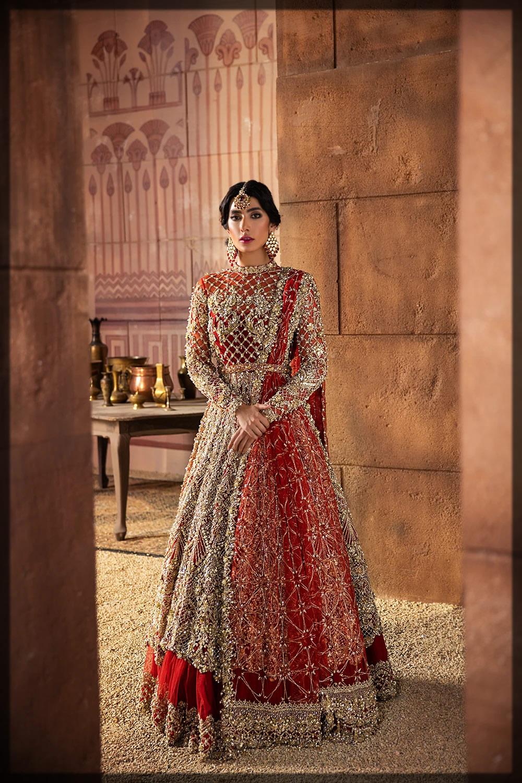 red net embellished dress